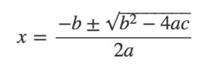 Løsningsformel for andengradsligning